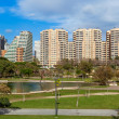 Turia park and modern buildings in Valencia, Spain. — Stock Photo #46320985