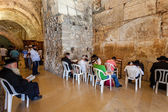 Interior view of Cave Synagogue in Jerusalem. — Stock Photo