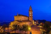 Chiesa cattolica, illuminata di notte. — Photo