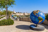 Globes exibition in Old City of Jerusalem. — Stock Photo