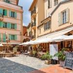 Restaurant on small square in Monaco-Ville. — Stock Photo