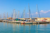 Yachts on marina of Ashkelon, Israel. — Stock Photo