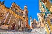 Basilica of Saint Michael Archange in Menton, France. — Stock Photo