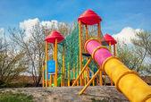 Colorful slideon playground. — Stock Photo