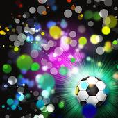 Soccer ball abstrakte lichter hintergrund — Stockfoto
