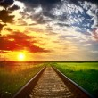 Railway into the sunset  — Stock Photo #12890867