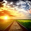 Railway into the sunset — Stock Photo #12891035