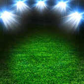 Soccer green field with light — Stock Photo