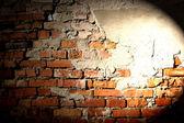 Fond de mur de briques avec des points culminants — Photo