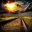 Railway into the sunset — Stock Photo #13316459