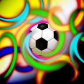 Stylish conceptual digital soccer illustration design — Stock Photo