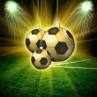 Soccer christmas hollyday background — Stock Photo #41621103
