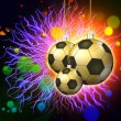 Soccer holiday abstract lights background — Stock Photo