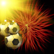 Soccer christmas hollyday background — Stock Photo #41621169
