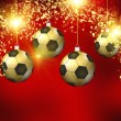 Soccer christmas hollyday background — Stock Photo #41621243