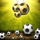Soccer balls — Stock Photo
