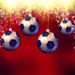 Soccer christmas hollyday background — Stock Photo #41667339