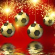 Soccer christmas hollyday background — Stock Photo #41667379