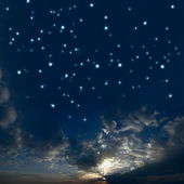 Beautiful night sky with a lot of stars — Stock Photo