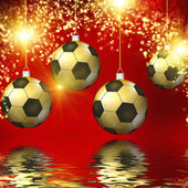Soccer christmas hollyday background — Stock Photo