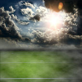 Football field and blue sky  — Stock Photo