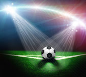 Soccer green field — Stock Photo