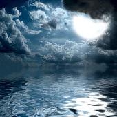Luz en el medio del océano del sol — Foto de Stock