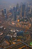 Panoramic image of Dubai city, UAE — Stock Photo