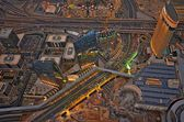Panoramic image of Dubai city, UAE — Stock Photo
