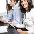 Stock Photo: Confident latin businesswomin office