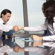 Stock Photo: Business agreement among businesspeople