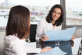 Consultation with tax adviser — Stock Photo