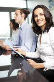 Confident latin businesswoman in office — Stock Photo