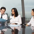 Stock Photo: Consultation with financial advisers