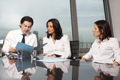Consultation with financial advisers — Stock Photo