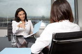 Nice job interview — Stock Photo