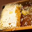Honeycomb with honey and wax — Stockfoto #39771079