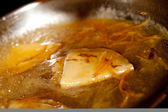 Crepe suzette, pancake with oranges — Stock Photo