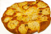 Focaccia with onions and olives from Italy — Stock Photo