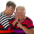 Female senior woman have fun together — Stock Photo