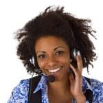 Female customer support operator — Stock Photo #14425789