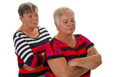 Two female seniors in dispute — Stock Photo