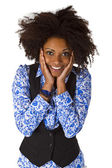 Laughing african american woman — Stock Photo