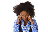 African american woman feels sick — Stock Photo