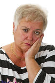 Sad female senior — Stock Photo