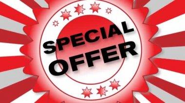 Oferta especial — Vídeo de stock