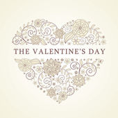 Background with heart for valentine day — Stock Vector