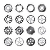 Set of gear wheels vector — Stock Vector