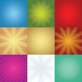 Set of rays backgrounds — Stock Vector