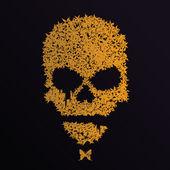 Vector grunge skull — Stock Vector
